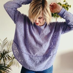 Free People lilac burn out thermal size large